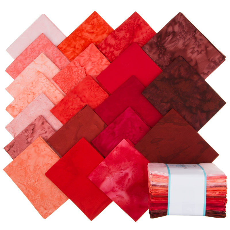 Lava Batik Solids - Lipstick Fat Quarter Bundle