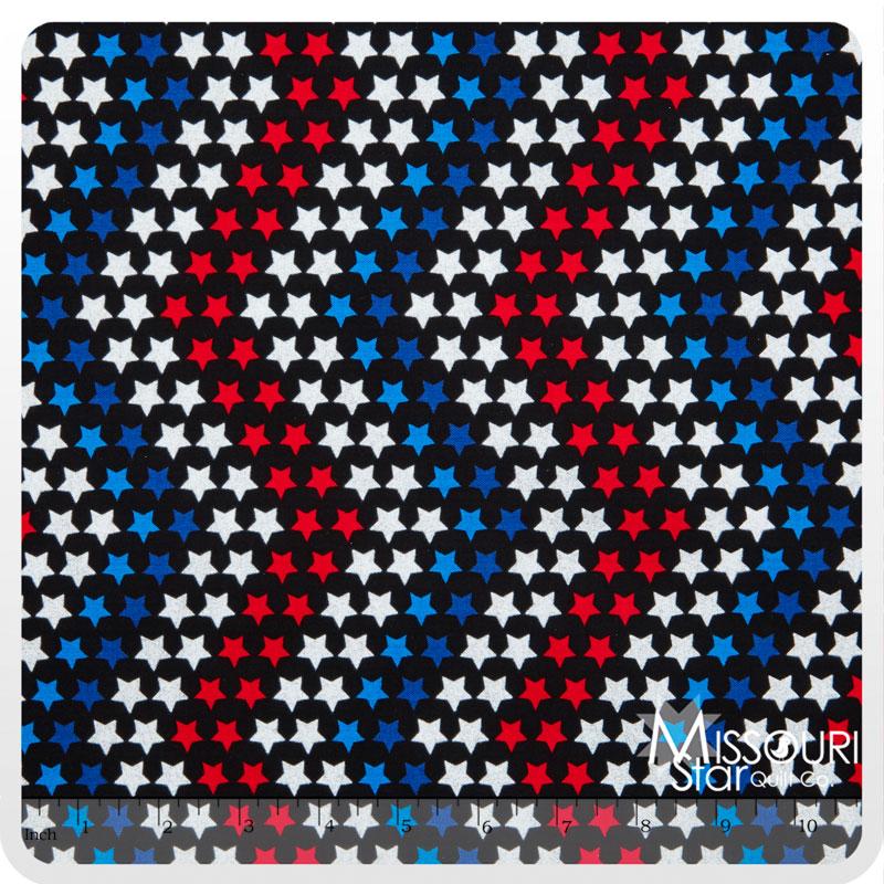 Celebrate - Star Bright Red/White/Blue Glitter Yardage