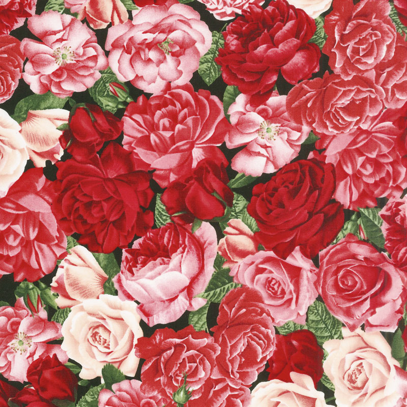 Rose Garden - Packed Roses Rose Yardage