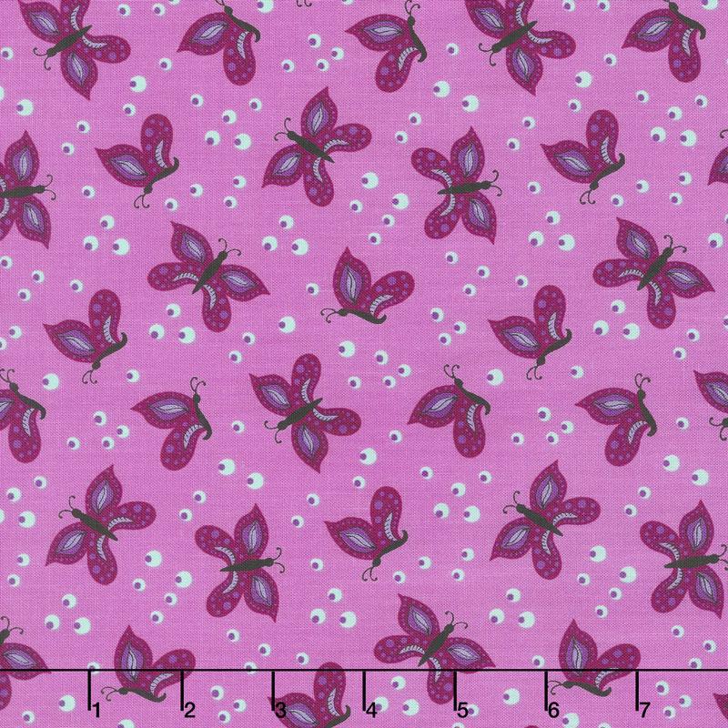 Gypsy - Butterfly Violet Yardage
