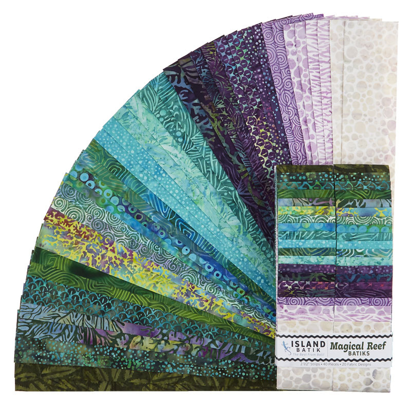 Magical Reef Batiks Strips
