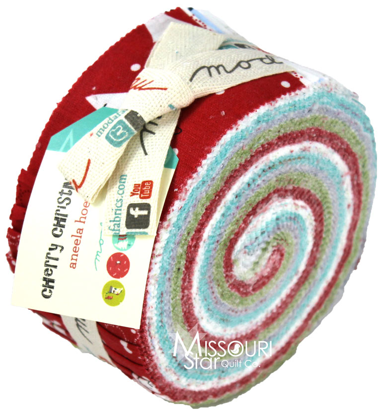 Cherry Christmas Jelly Roll - Aneela Hoey - Moda Fabrics ...