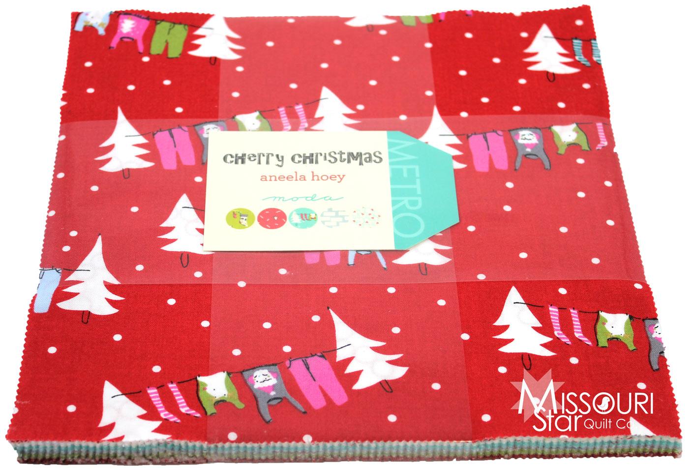 Cherry Christmas Layer Cake - Aneela Hoey - Moda Fabrics ...