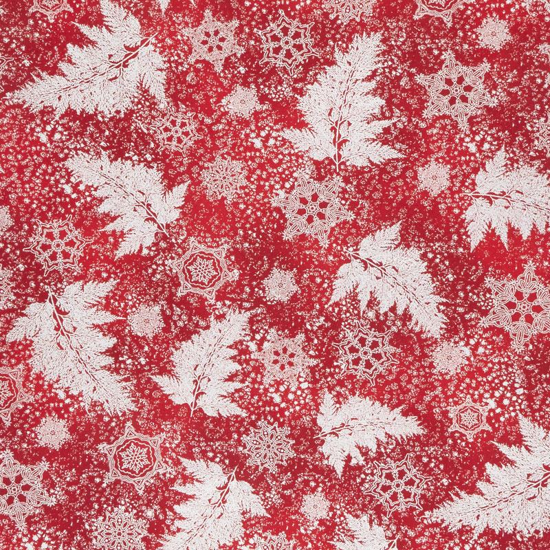 Holiday Flourish 12 - Scarlet Branches Metallic Yardage