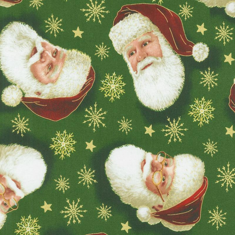 Christmas Eve - Santa Head Toss Forest Yardage