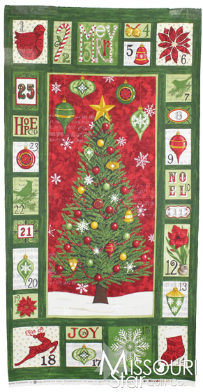Christmas Countdown - Green Panel