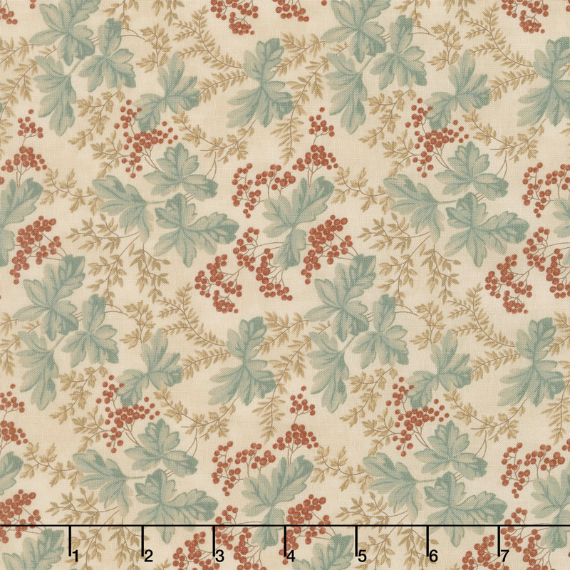 Collection for a Cause - Heritage 10th Anniversary Leaves & Berries Muslin Yardage