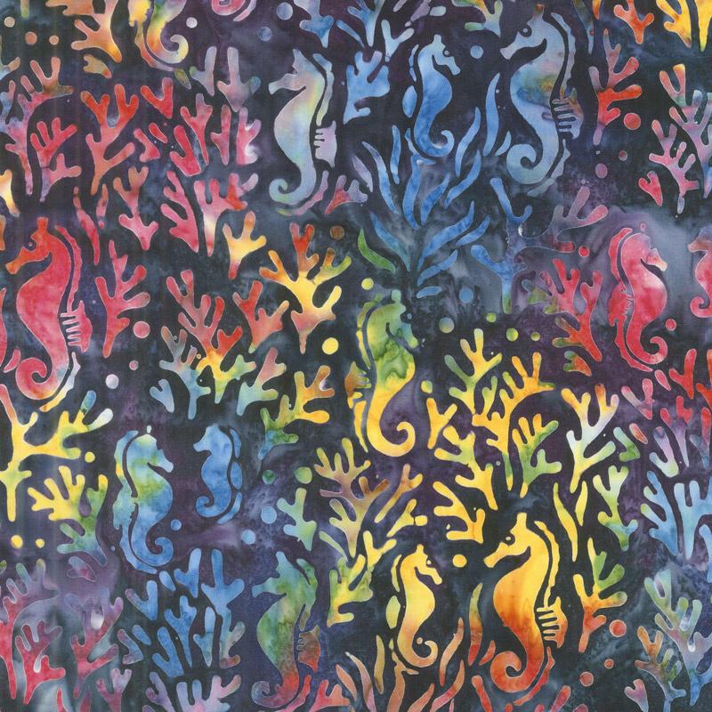 Artisan Batiks - Totally Tropical Seahorse Multi Yardage