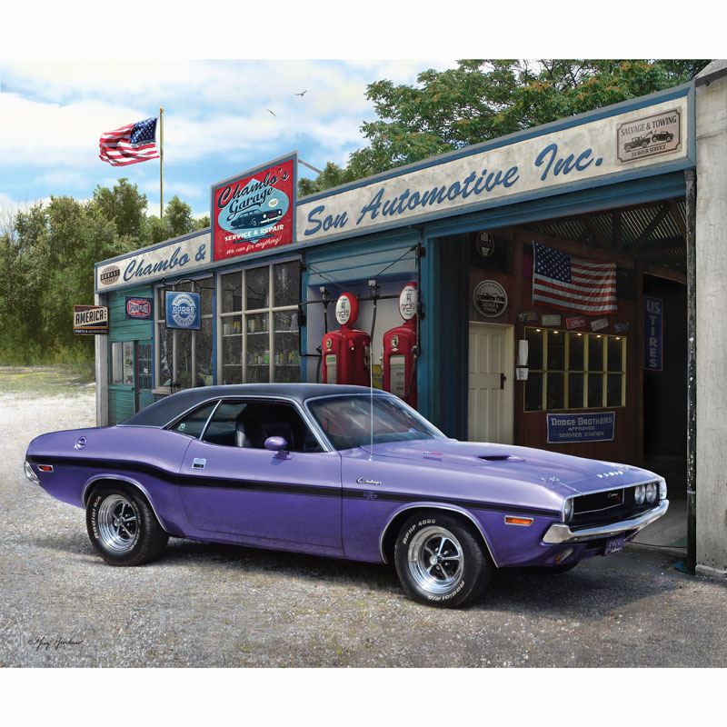 Dodge Muscle Cars - Dodge 1970 Challenger Digitally Printed Panel ...