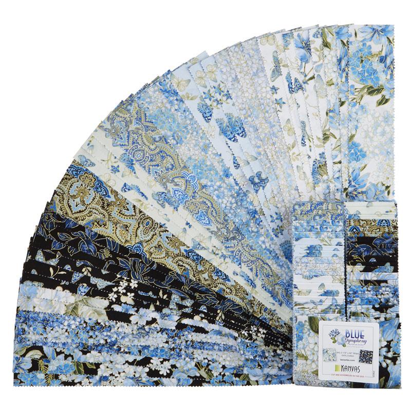 Blue Symphony Metallic Strip-pies