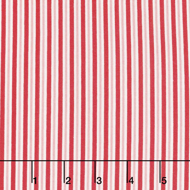 Sweet Christmas - Candy Cane Stripe Peppermint Yardage