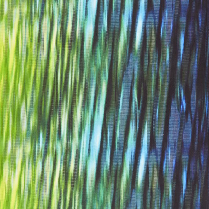 Starlight & Splendor - Borealis Ombre Peacock Digitally Printed Yardage