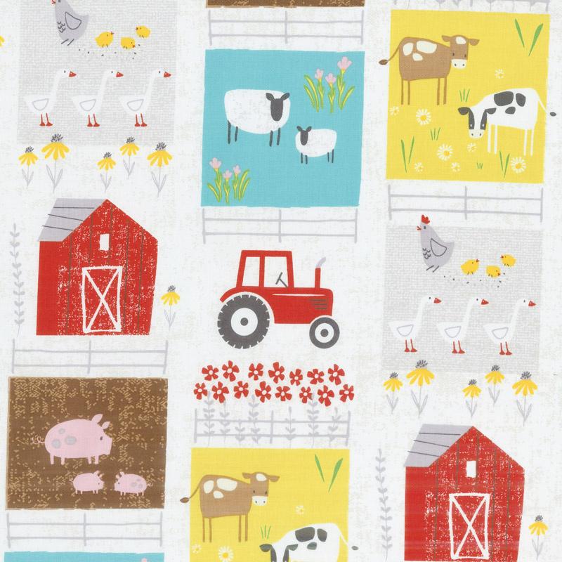 Wildflower Farm - Patchwork Stripe Multi Yardage