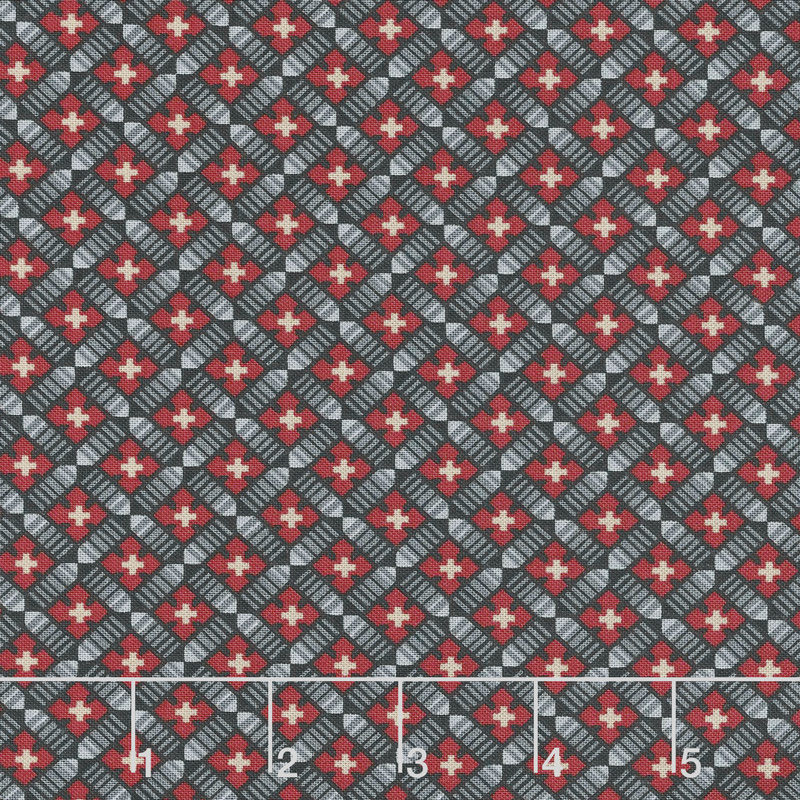 Baltimore House - Diamond Link Grey Yardage