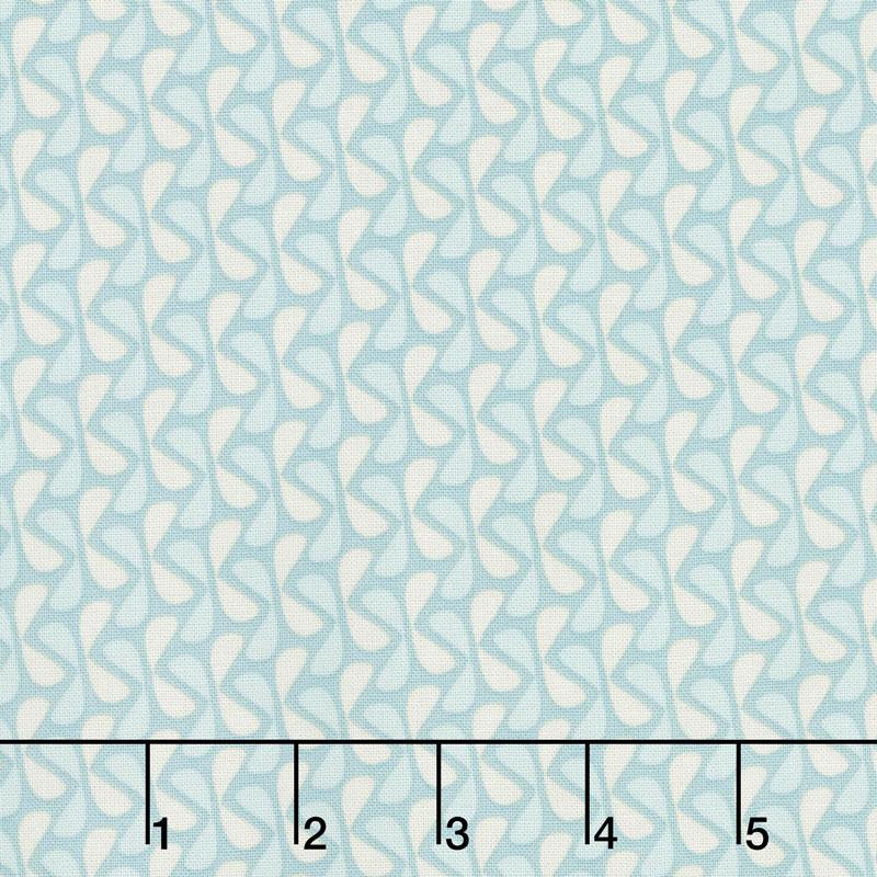 Sew Retro - Leaves Blue Yardage