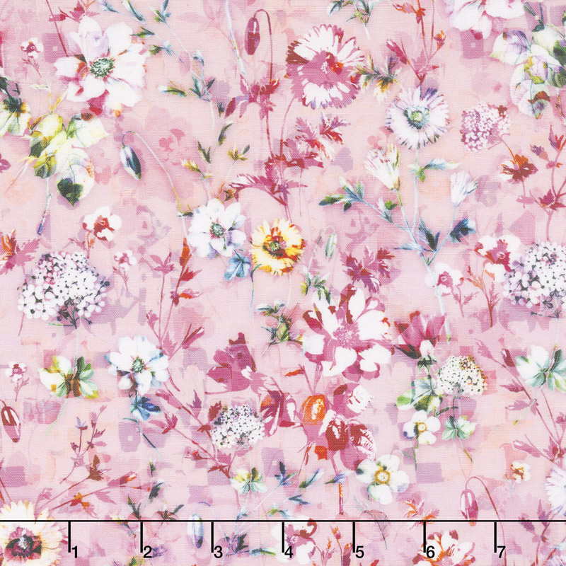 Fleur Couture - Sachet Rose Digitally Printed Yardage