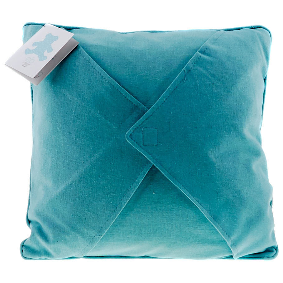 Easy as 1-2-3 Embroidery Pillow - Blue Topaz