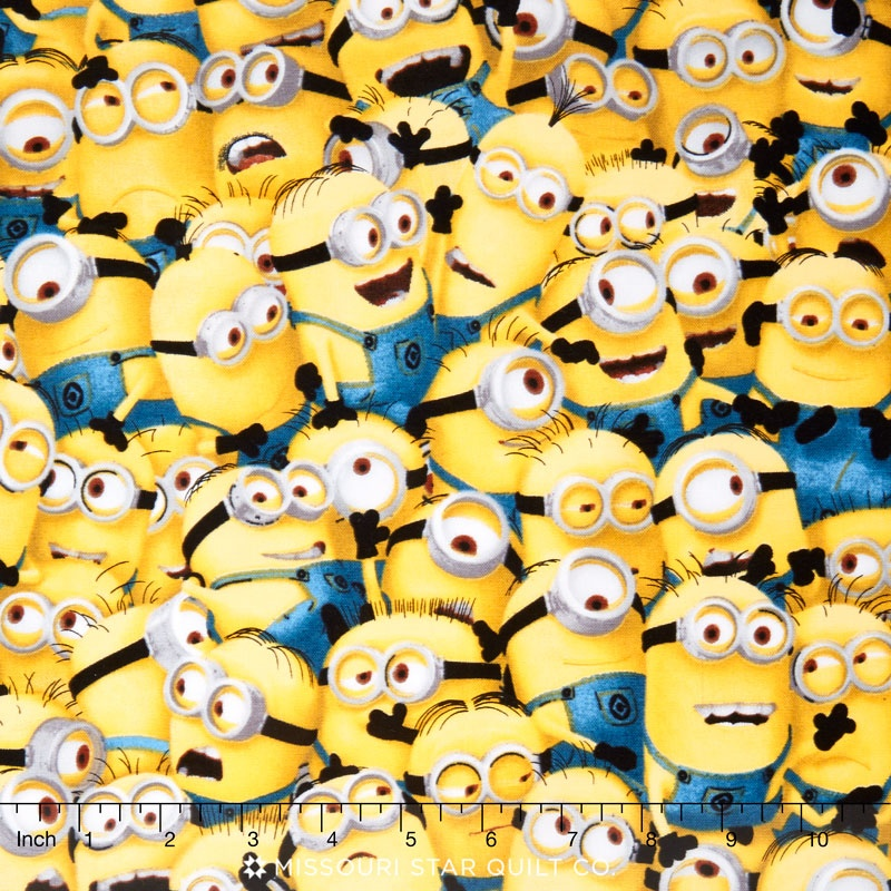 1 in a Minion - Packed Minions Yellow Yardage - Despicable Me Minion ...