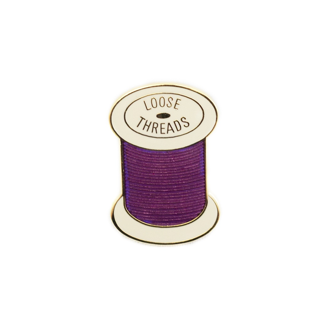 Loose Threads Pin Purple by Pin Peddlers