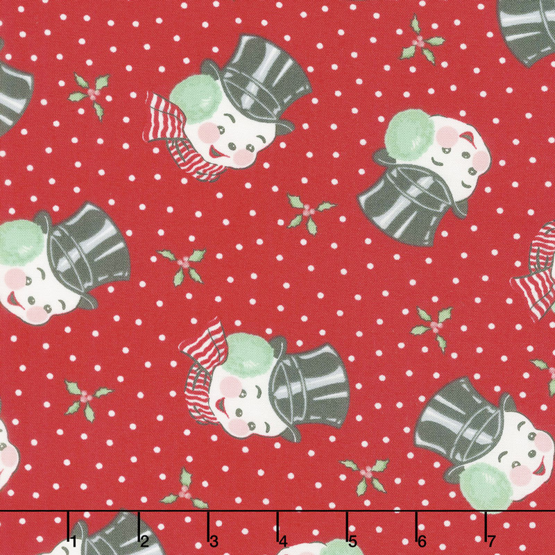 Sweet Christmas - Mr. Snowman Peppermint Yardage