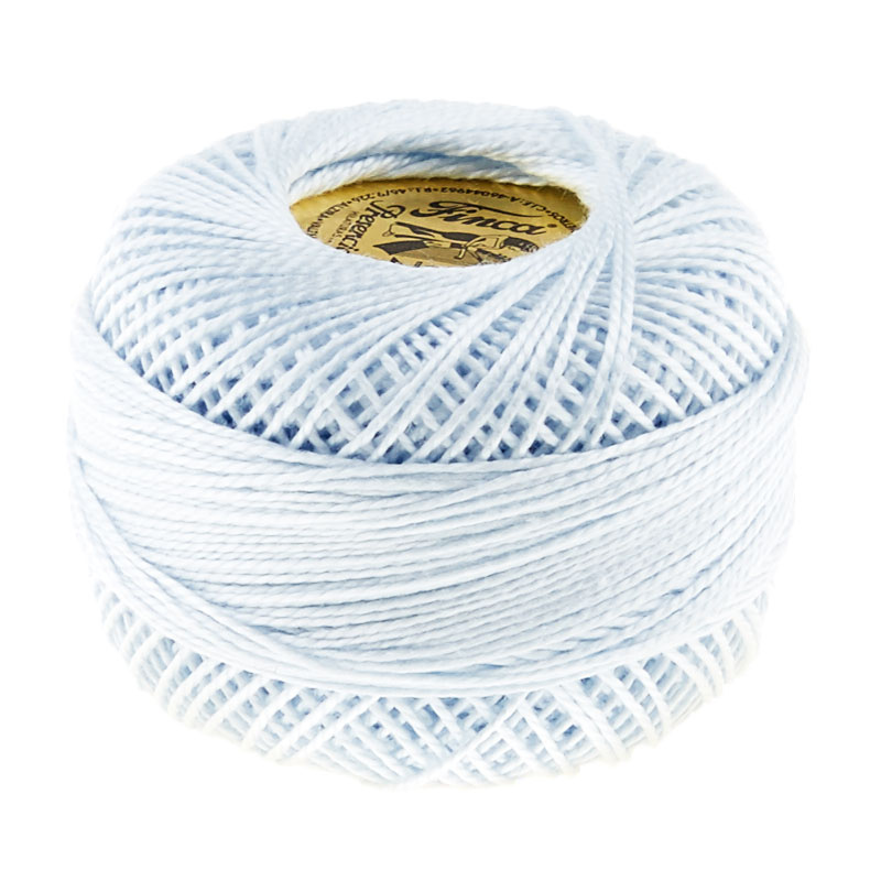 Presencia Perle Cotton Thread Size 8 Very Light Blue
