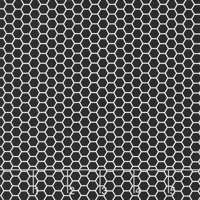 Bumble Bumble - Honeycomb Silhouette Black Yardage