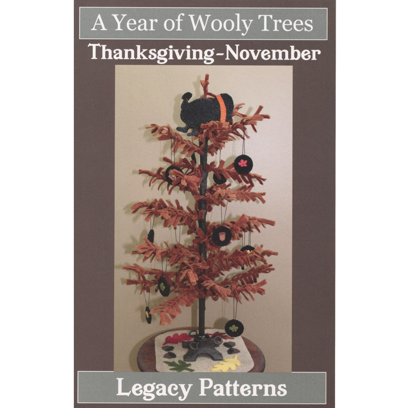 A Year of Wooly Trees Pattern - November Thanksgiving