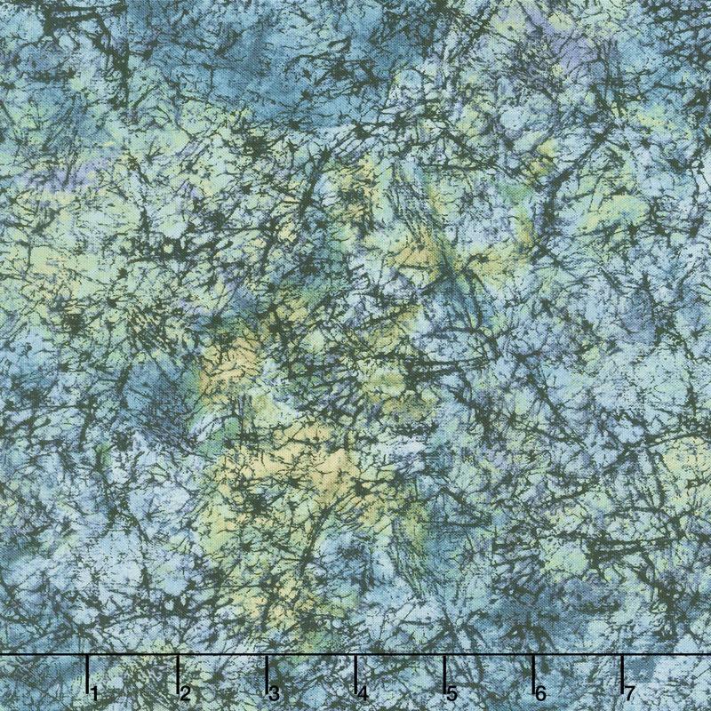 Grand Illusion - Marble Teal Yardage