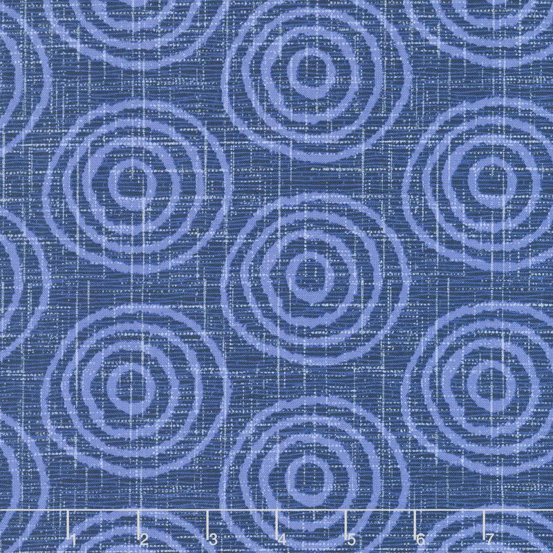 Moody Blues - Circles Dark Blue Yardage | Blank Quilting