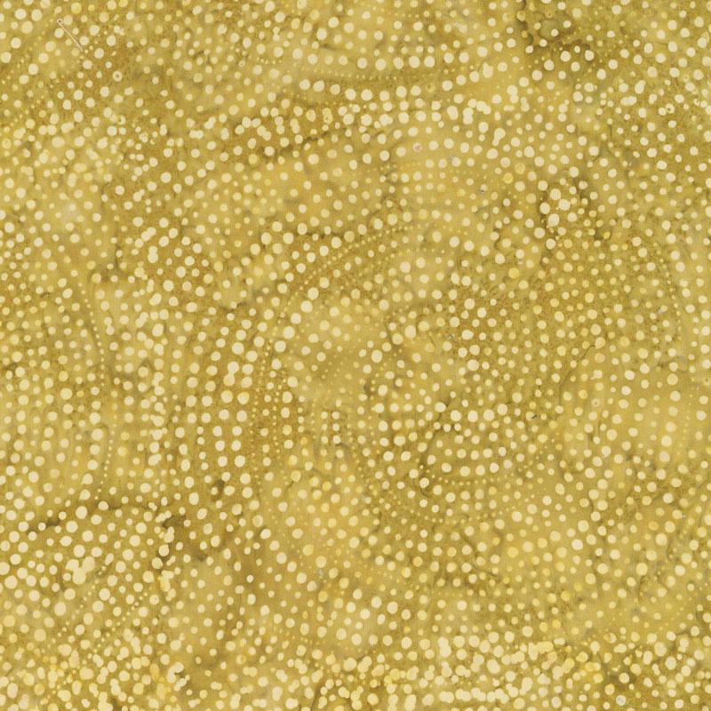 Tonga Batiks - Colorwheel Forest Dotty Spiral Gold Yardage