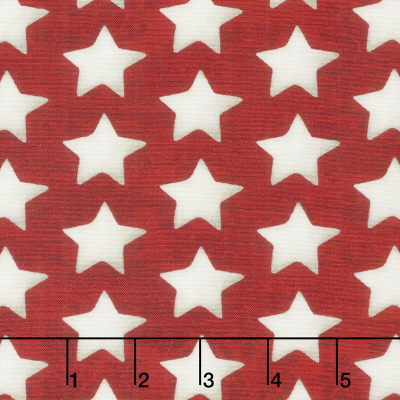 America the Beautiful - Set Stars Red Yardage