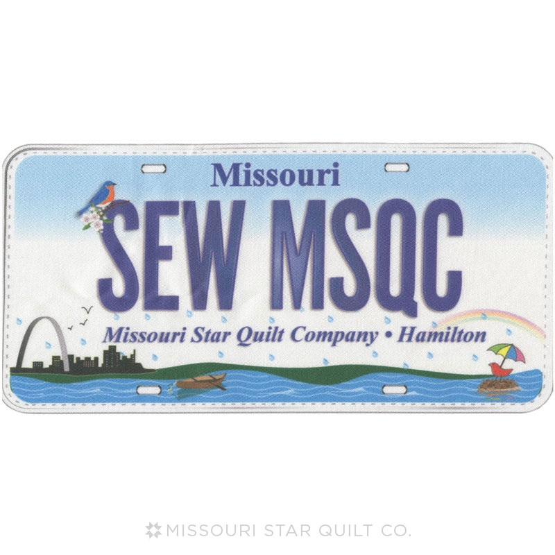 Row by Row Official 2015 License Plate - Sew MSQC