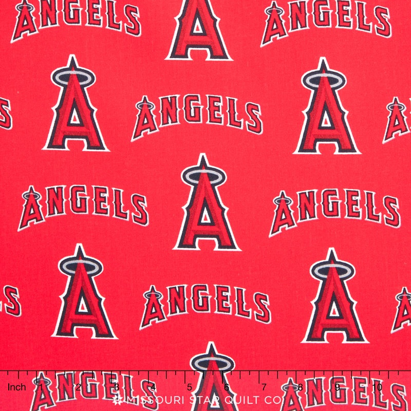 Mlb Major League Baseball Anaheim Angels Allover Yardage Fabric