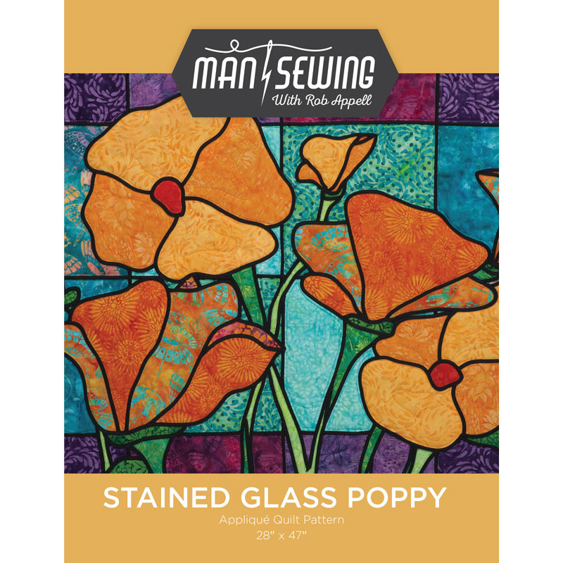 Stained Glass Poppy Pattern From Man Sewing
