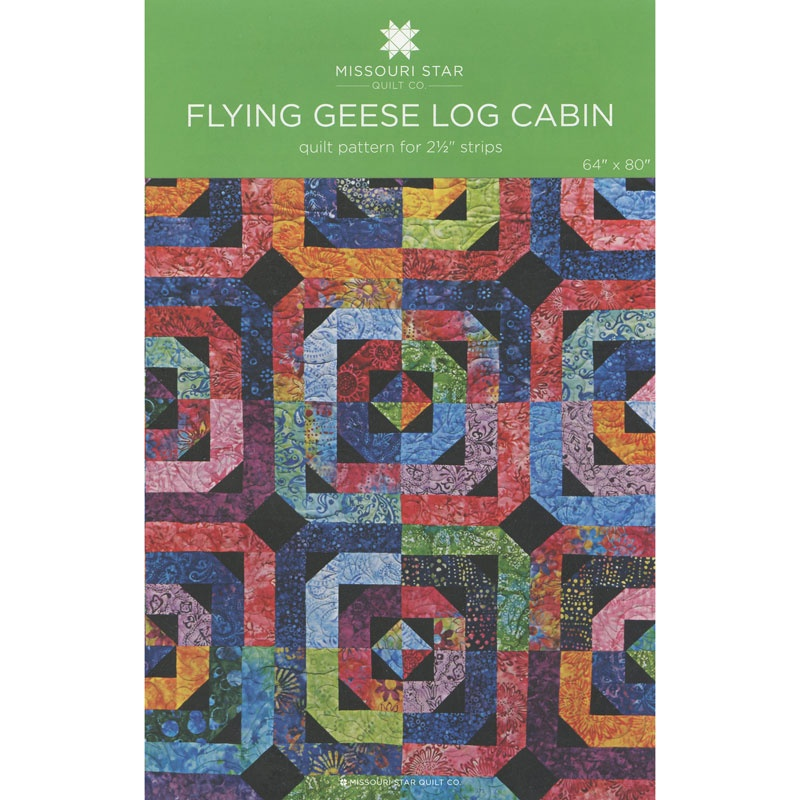 Flying Geese Log Cabin Quilt Pattern By Missouri Star Missouri