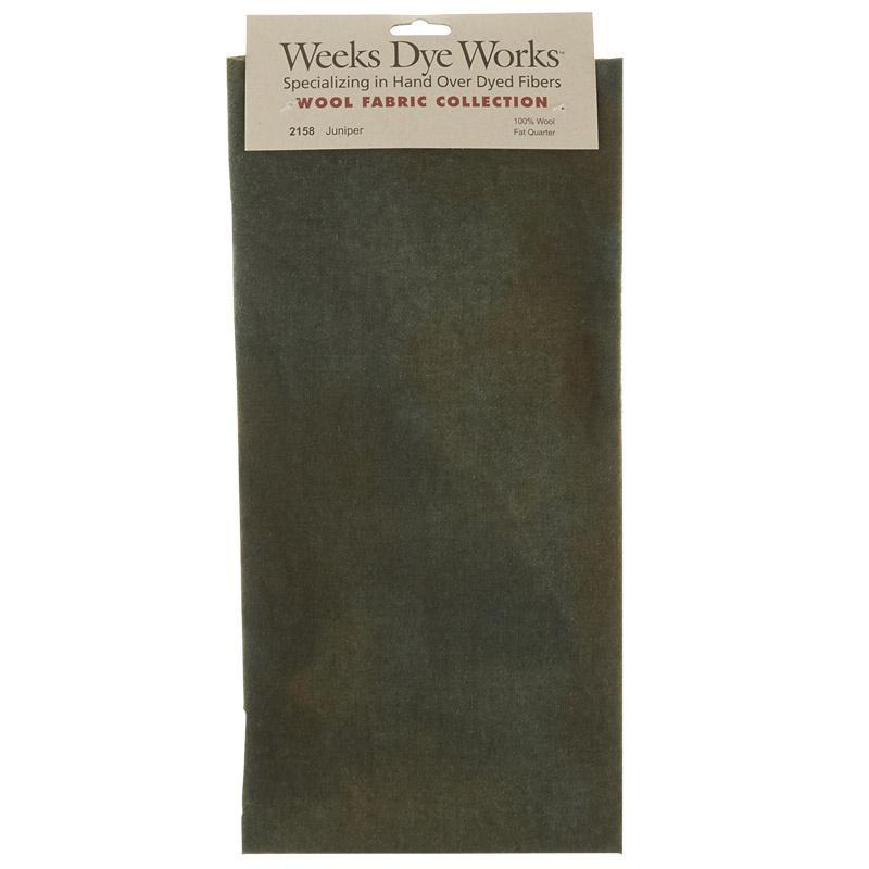 Weeks Dye Works Hand Over Dyed Wool Fat Quarter - Solid Juniper