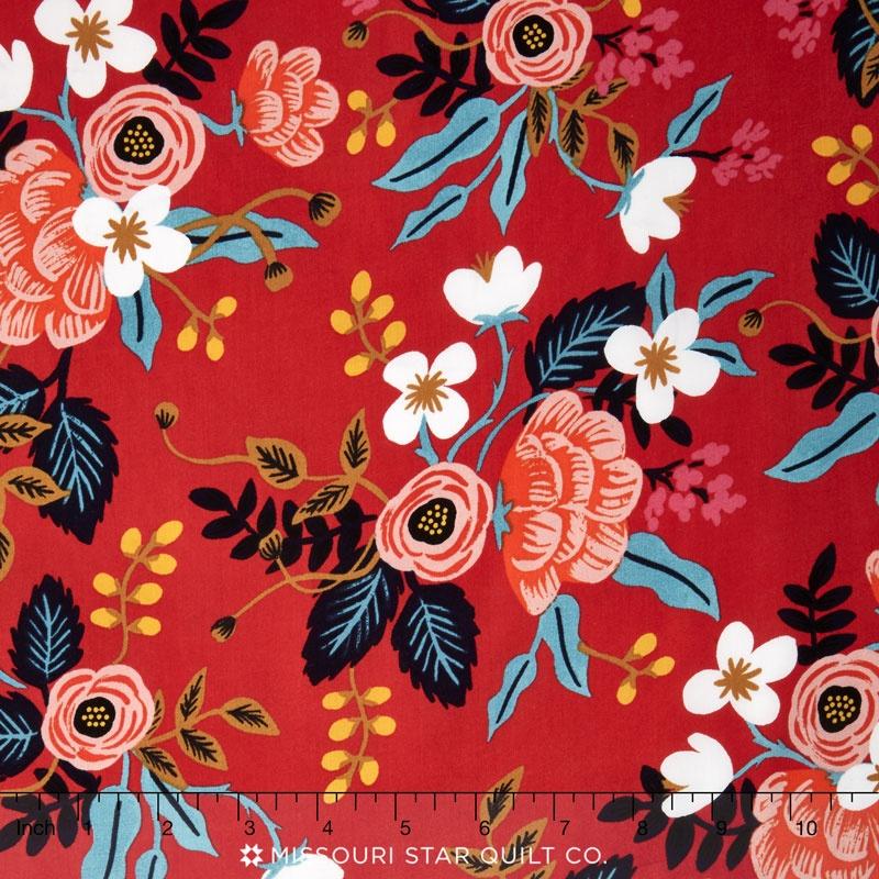 Les Fleurs - Birch Floral Enamel Rayon Yardage