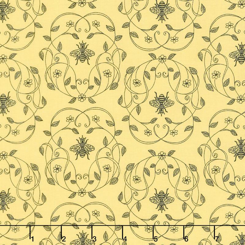 Honey Run - Honey Queen Bee Yellow Yardage