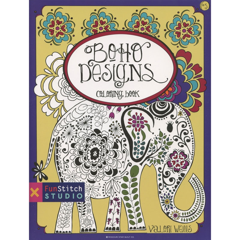 Boho Designs Coloring Book by Valori Wells