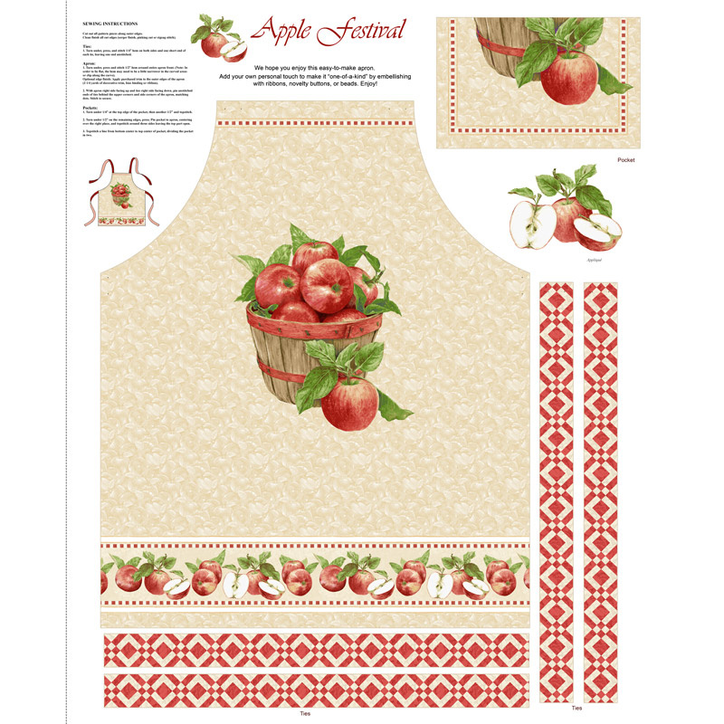 Apple Festival - Apron Red Panel