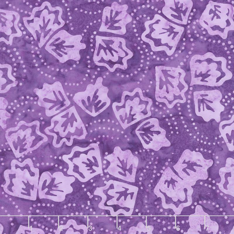 Royal Treatment Batiks - Twirling Leaves Purple Yardage