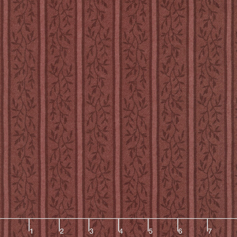 Country Road - Vine Stripe Red Flannel Yardage