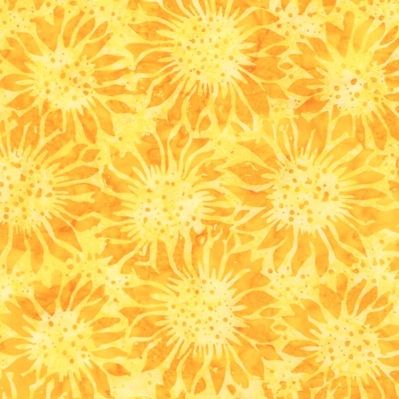Autumn Harvest Batiks - Sunflower Sunshine Yardage