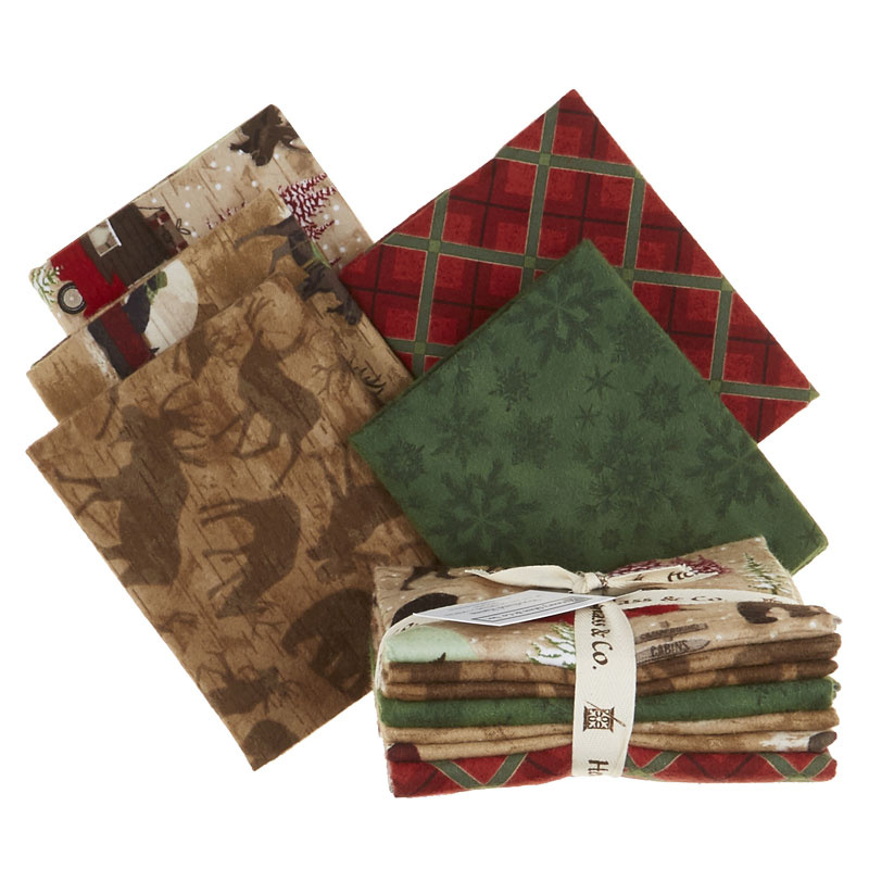 Woodland Haven 5 Easy Pieces Flannel Fat Quarter Bundle