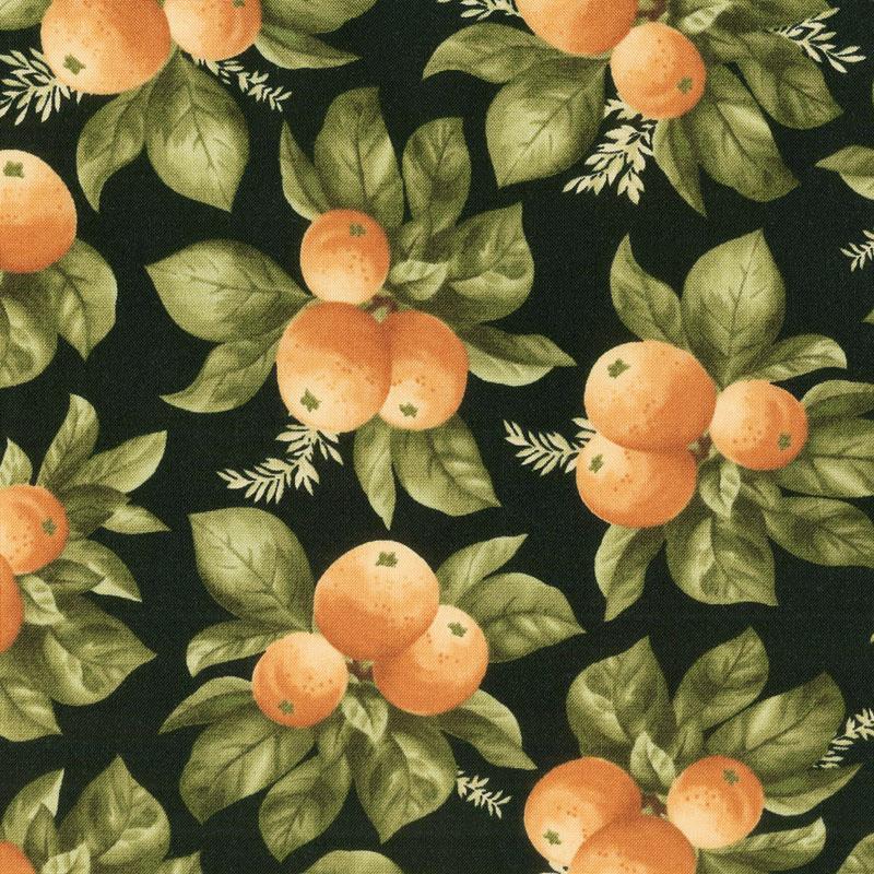 A Fruitful Life - Citrus Black Yardage
