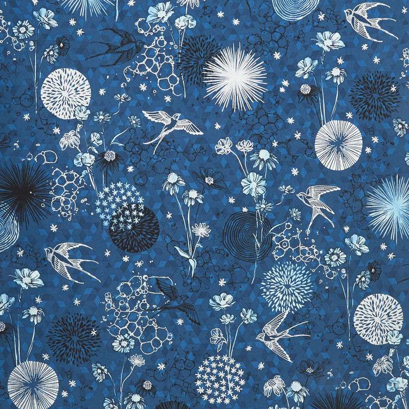 Shiny Objects - Sweet Somethings Only in Dreams Blueberry Metallic Yardage