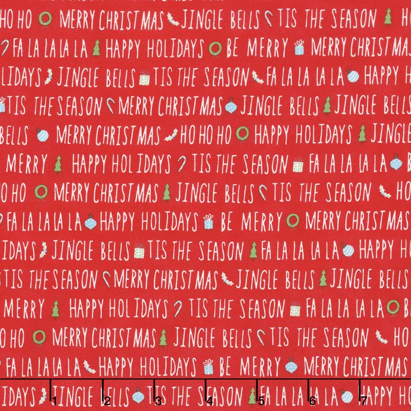 The North Pole - Holiday Cheer Berry Yardage