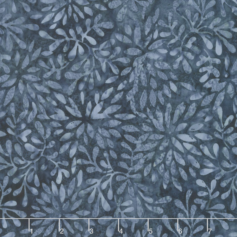 Car-Pool Lane Batiks - Packed Petals Dark Blue Yardage