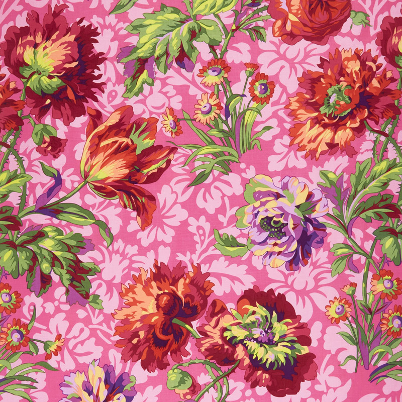 Kaffe Fassett Collective Spring 2018 - Bright Baroque Floral Red Yardage