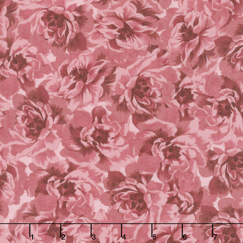 Burgundy & Blush - Full Bloom Blush Yardage